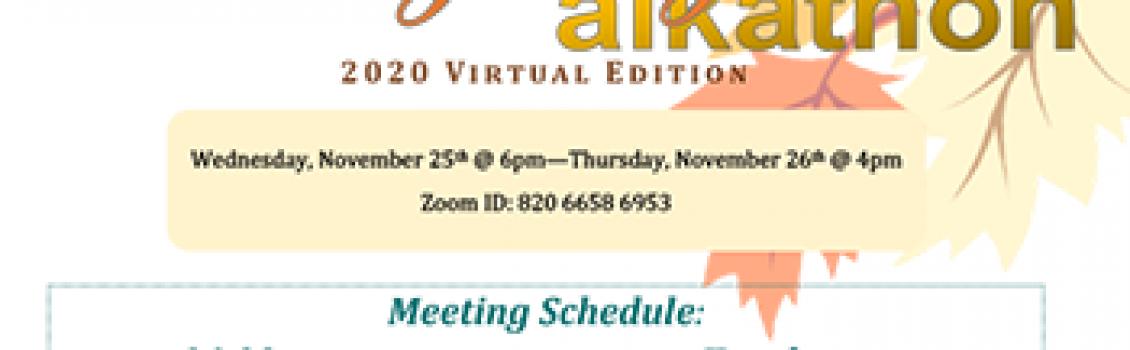 Thanksgiving Alkathon 2020 Virtual Edition