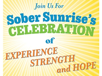 Sober Sunrise's Celebration, Sat., May 2, 2020