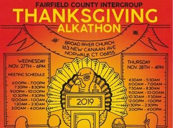 Thanksgiving Alkathon Nov. 27-28, 2019